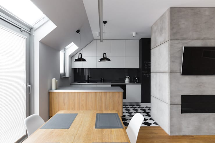 Mieszkanie w Warszawie/ IN PRACOWNIA: styl , w kategorii Kuchnia zaprojektowany przez www.niewformie.pl