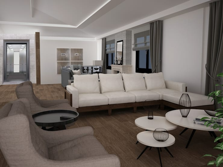 CANSEL BOZKURT  interior architect – Çatı katı :  tarz Ev İçi
