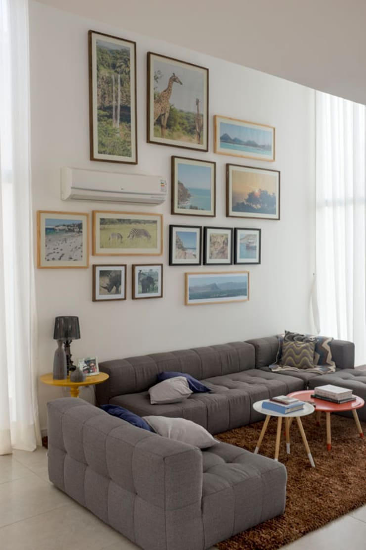 Salones de estilo  de POCHE ARQUITETURA, Moderno