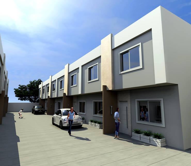 Condomínio Residencial – RJ Casas modernas por Konverto Interiores + Arquitetura Moderno