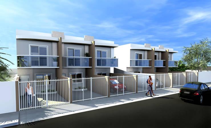 Condomínio Residencial - RJ Casas modernas por Konverto Interiores + Arquitetura Moderno