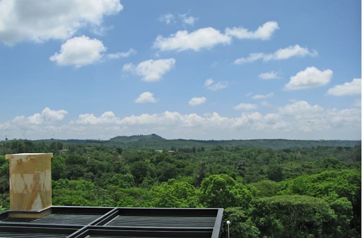 Vista desde el Roof Garden: Casas de estilo moderno por Estudio Meraki