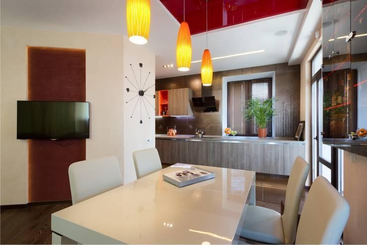Вид на кухню.:  в . Автор – Студия дизайна Ирины Комиссаровой