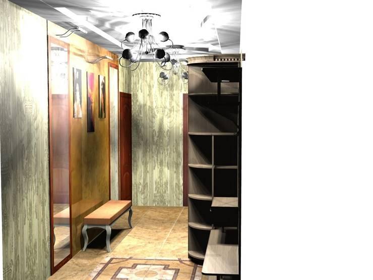 Пример использования модулей для прихожей: Прихожая, коридор и лестницы в . Автор – ООО 'Сфера'