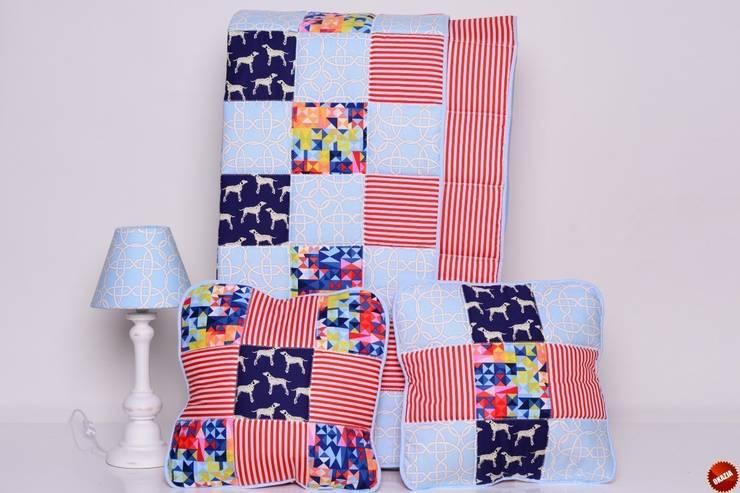 Narzuta DALMATIAN HOLIDAY 95x150cm + poduszki: styl , w kategorii Pokój dziecięcy zaprojektowany przez majunto