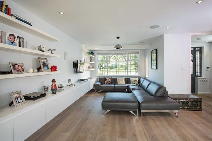 Abbots Gardens, N2: modern Living room by XUL Architecture