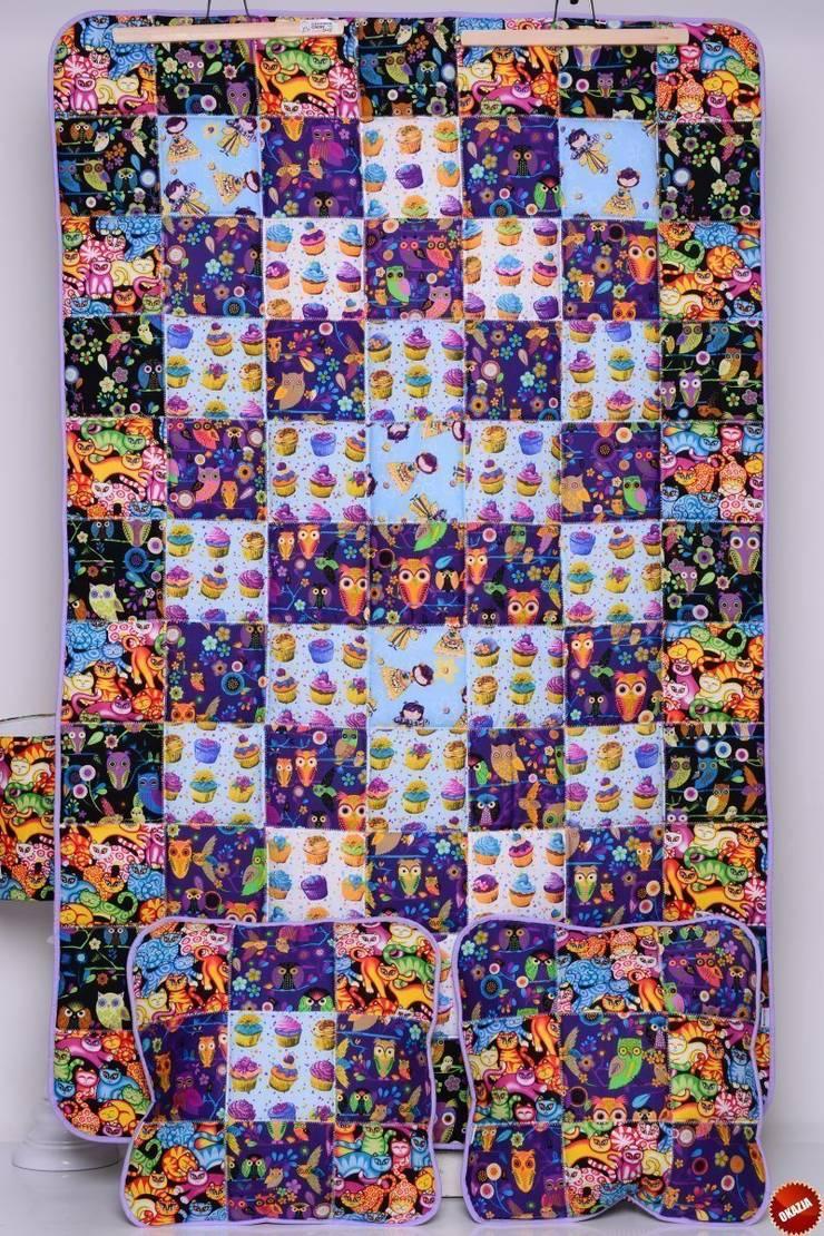 Narzuta SWEET VIOLET 95x150cm + poduszki: styl , w kategorii Pokój dziecięcy zaprojektowany przez majunto