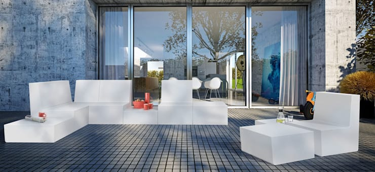 Balcones y terrazas de estilo  por produktsalon // Susanne Uerlings Produktdesign