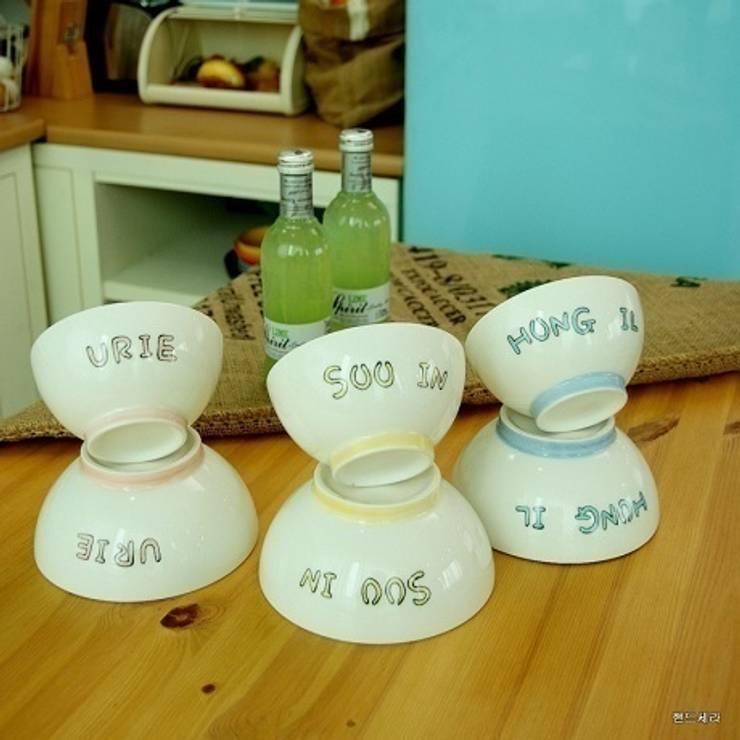 이니셜 밥그릇 국그릇 세트: HANDCERA(핸드세라)의  주방