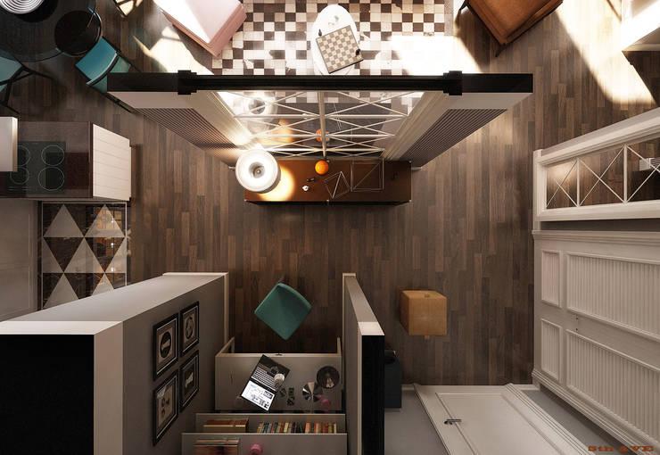 NYC. 5-th Ave: Гостиная в . Автор – KAPRANDESIGN