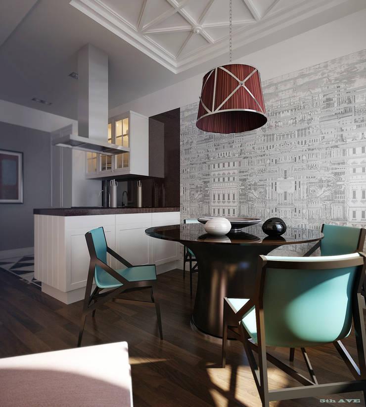 NYC. 5-th Ave: Столовые комнаты в . Автор – KAPRANDESIGN