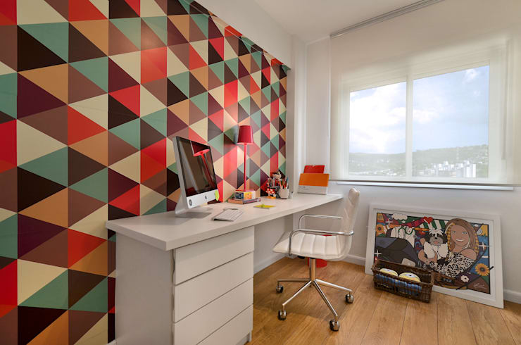 Modern style study/office by CR Arquitetura&paisagismo Modern Synthetic Brown