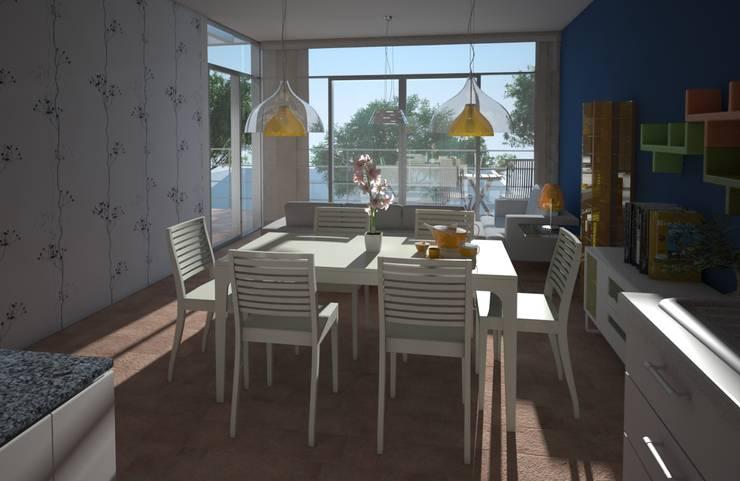 Comedor, casa Kompa-Enríquez: Comedores de estilo  por Axios Arquitectos