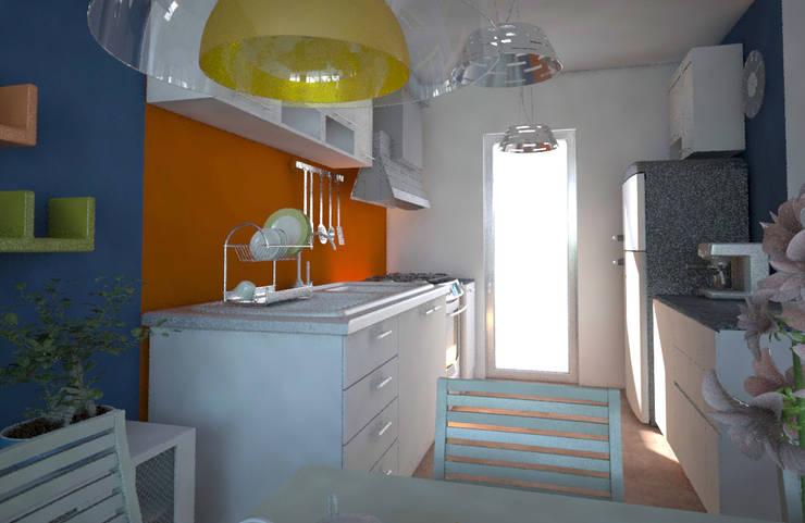 Cocina, casa Kompa-Enríquez: Cocinas de estilo  por Axios Arquitectos