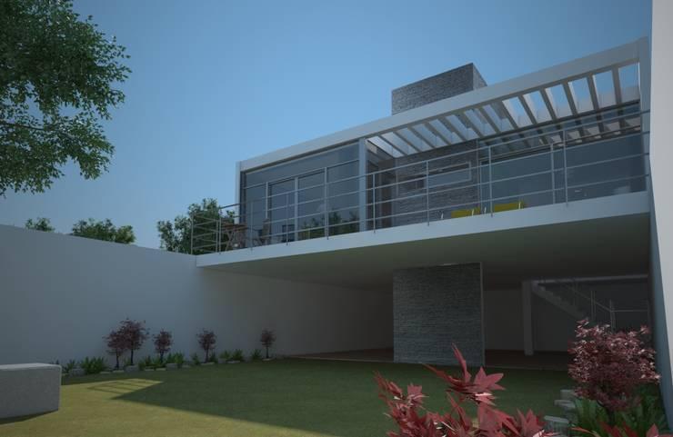 Jardín, casa Kompa-Enríquez: Jardines de estilo  por Axios Arquitectos