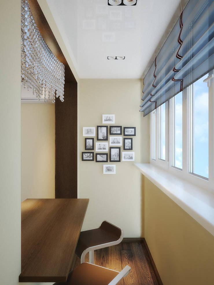 Квартира в поселке Поворово Московской области : Tерраса в . Автор – Симуков Святослав частный дизайнер интерьера