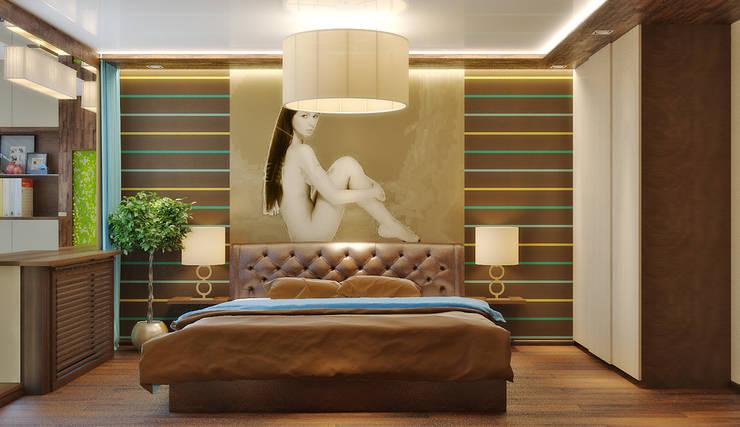 Квартира в поселке Поворово Московской области : Спальни в . Автор – Симуков Святослав частный дизайнер интерьера