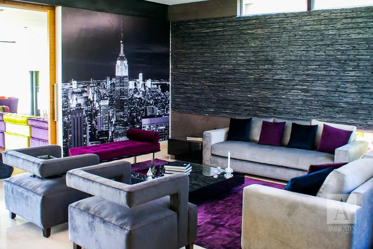 NEW YORK CITY EN TU SALA :  de estilo  por Ambientes con Arte