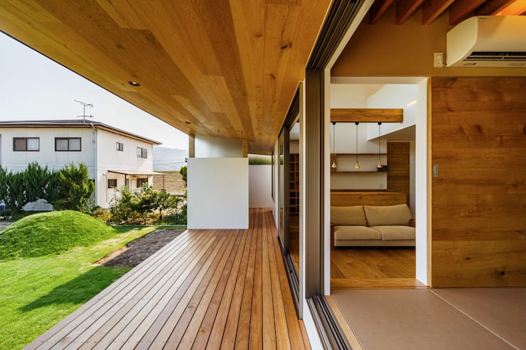 Projekty,  Taras zaprojektowane przez 一級建築士事務所haus