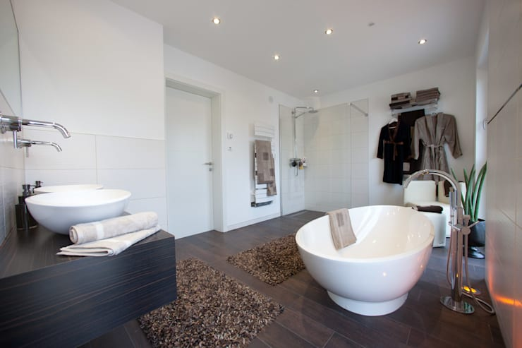 Modern Bathroom by ELK Fertighaus GmbH Modern