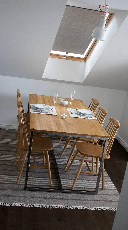 Stół, biurko, Industrial Dining Oak: styl , w kategorii Kuchnia zaprojektowany przez projekt drewno,