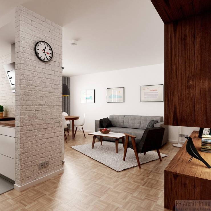 Poturzyńska   Lublin: styl , w kategorii Korytarz, przedpokój zaprojektowany przez H+ Architektura,Nowoczesny
