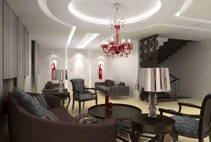 Vue générale des deux salons.: Salon de style  par michel bandaly