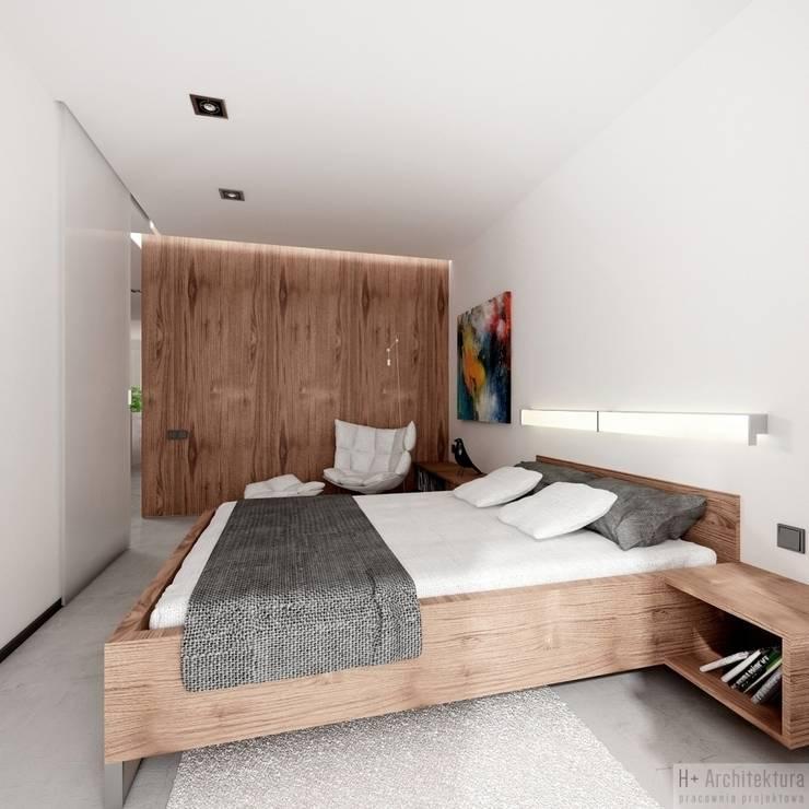 Potokowa   Wrocław: styl , w kategorii Sypialnia zaprojektowany przez H+ Architektura,