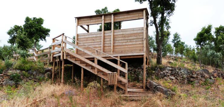 Centro de Observação Avifauna do Gavião: Terraços  por OpenGreen