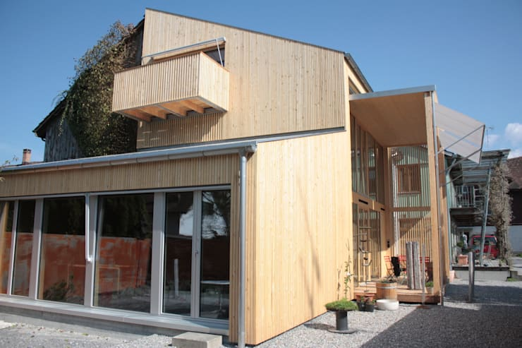 Westfassade:  Häuser von bb architektur gmbh