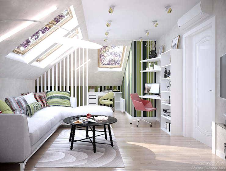 scandinavian Nursery/kid's room by Студия интерьерного дизайна happy.design