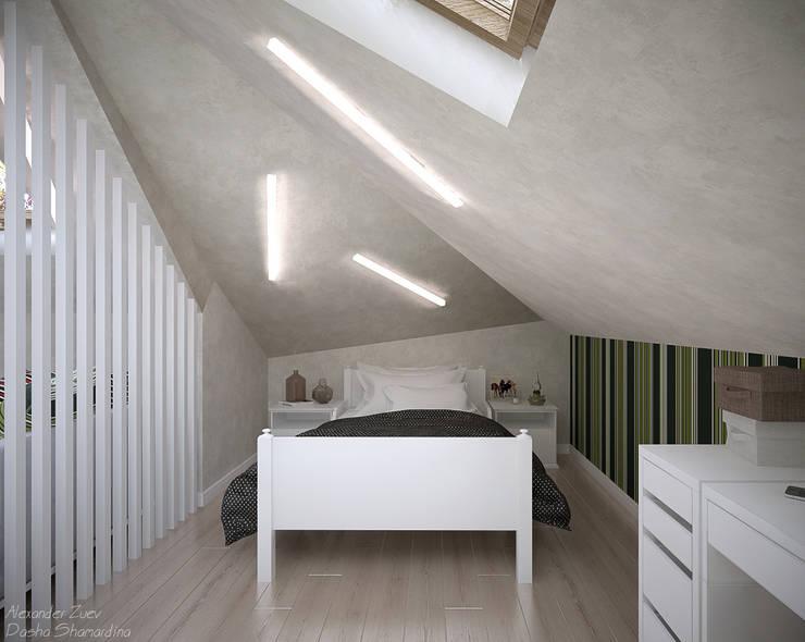 Dormitorios infantiles de estilo  por Студия интерьерного дизайна happy.design