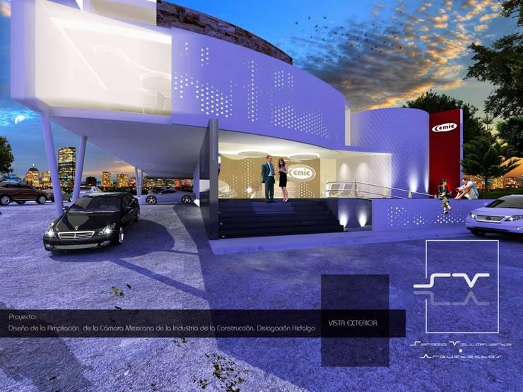 CÁMARA MEXICANA DE LA INDUSTRIA DE LA CONSTRUCCIÓN, Delegación Hidalgo.: Casas de estilo  por Sergio Villafuerte -ARQUITECTOS-