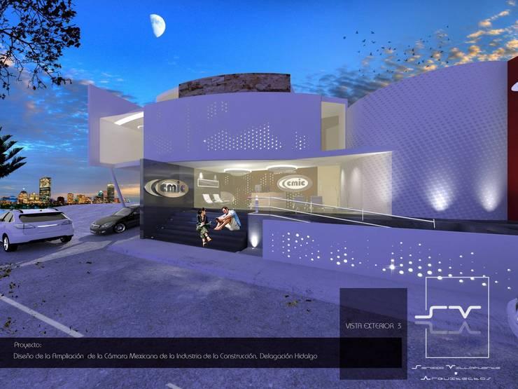 CÁMARA MEXICANA DE LA INDUSTRIA DE LA CONSTRUCCIÓN, Delegación Hidalgo. Casas modernas de Sergio Villafuerte -ARQUITECTOS- Moderno