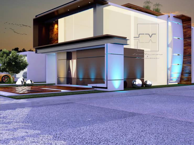 CASA VALLE DEL SOL: Casas de estilo  por Sergio Villafuerte -ARQUITECTOS-