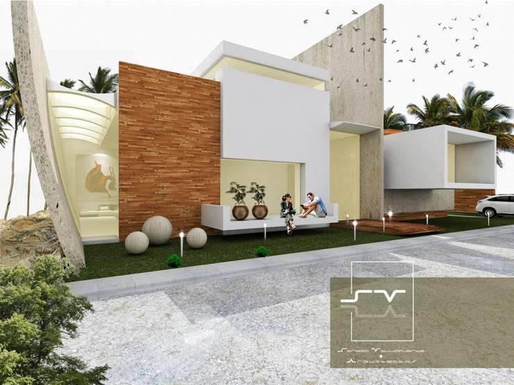 CASA ACAPULCO: Casas de estilo  por Sergio Villafuerte -ARQUITECTOS-