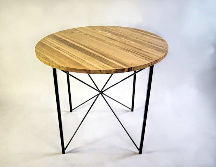 """Stół kuchenny ze stali i dębu """"COPENHAGEN"""": styl , w kategorii Kuchnia zaprojektowany przez NordLoft - Industrial Design"""