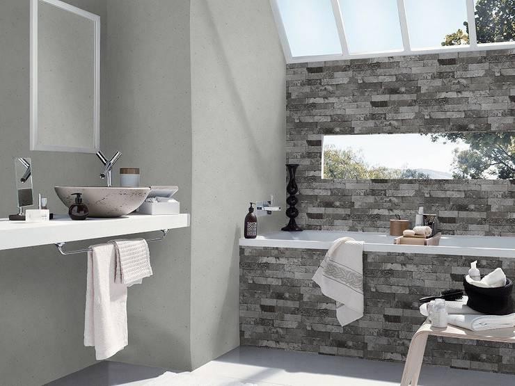 Papel tapiz estilo Industrial-Chic: Paredes y pisos de estilo  por DeColor