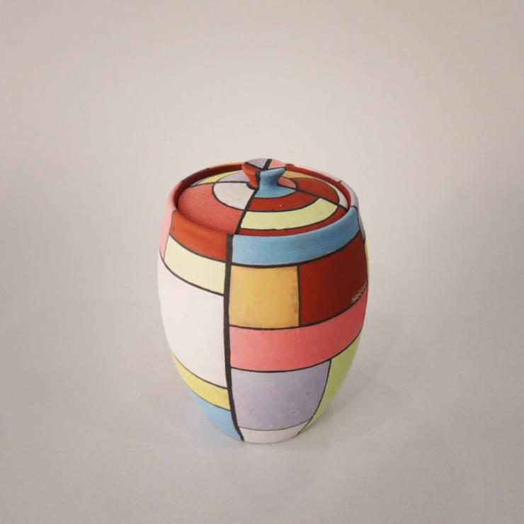 조각보 라인 - Patchwork wrapping-cloth Line: 하랑(HARANG ceramic studio) 의  주방