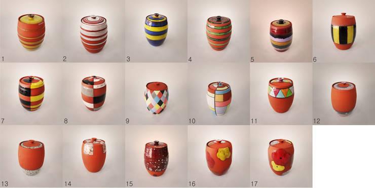 오색빛깔 옹기 항아리 ( Autumnal colors pottery jar ): 하랑(HARANG ceramic studio) 의  주방
