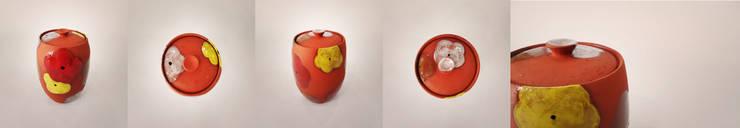 오색빛깔 옹기 항아리 : 하랑(HARANG ceramic studio) 의  주방
