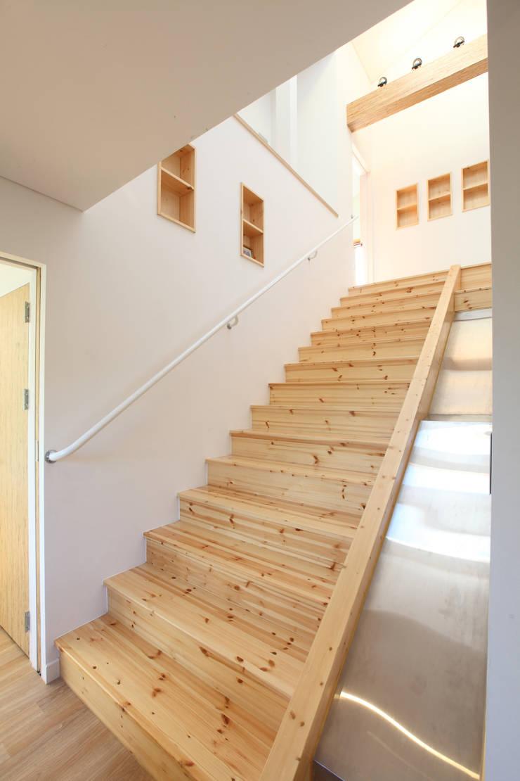 現代風玄關、走廊與階梯 根據 주택설계전문 디자인그룹 홈스타일토토 現代風