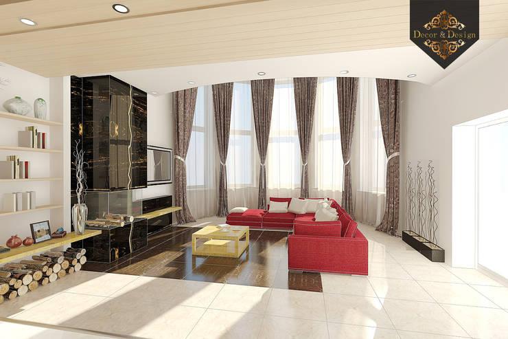 Уютный минимализм: Гостиная в . Автор – Decor&Design