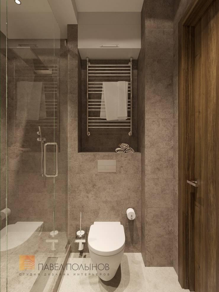 Душевая: Ванные комнаты в . Автор – Студия Павла Полынова