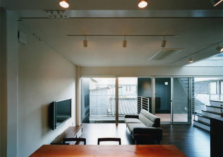 大東の家: 中間建築設計工房/NAKAMA ATELIERが手掛けたリビングです。