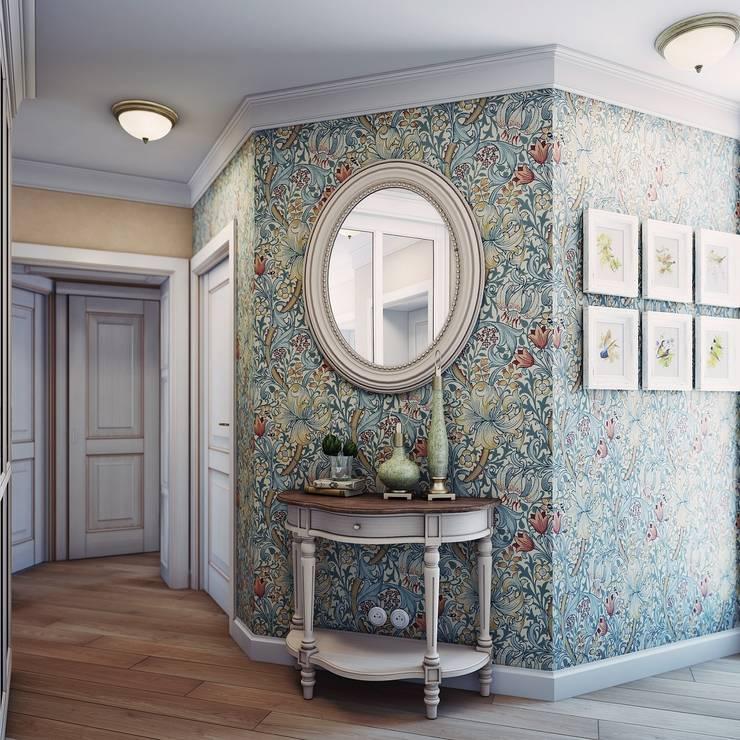 Дизайн-проект 4-х комнатной квартиры, г. Москва: Коридор и прихожая в . Автор – Анна Теклюк,