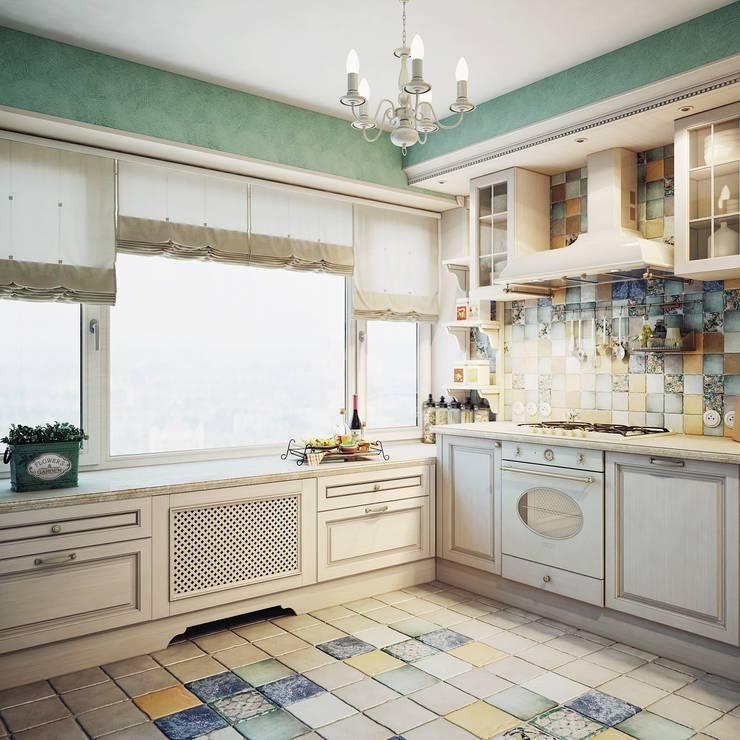 Дизайн-проект 4-х комнатной квартиры, г. Москва: Кухни в . Автор – Анна Теклюк,