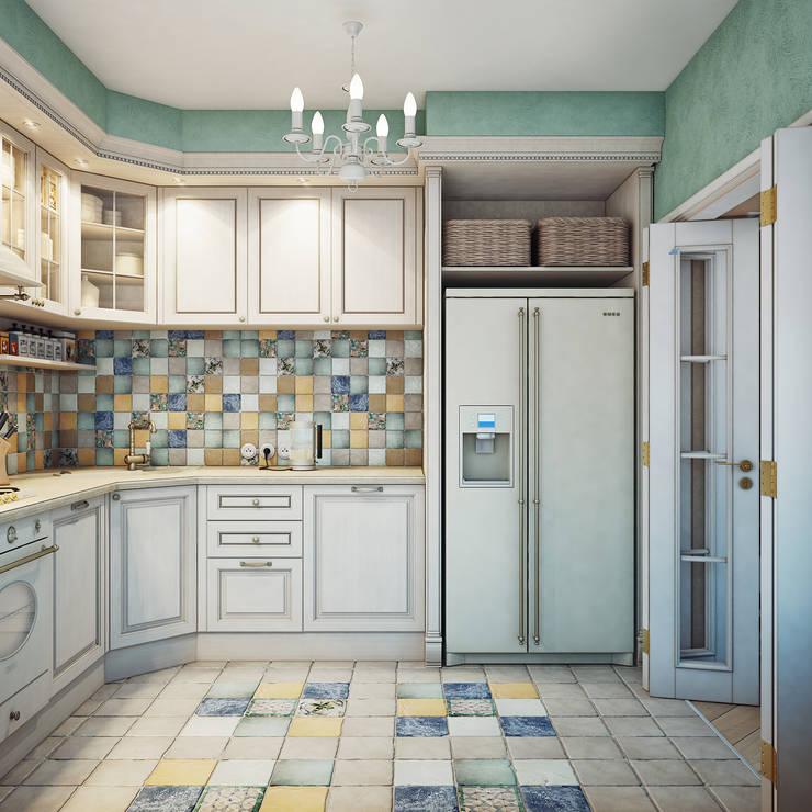 Дизайн-проект 4-х комнатной квартиры, г. Москва: Кухни в . Автор – Анна Теклюк