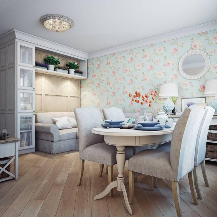 Дизайн-проект 4-х комнатной квартиры, г. Москва: Гостиная в . Автор – Анна Теклюк