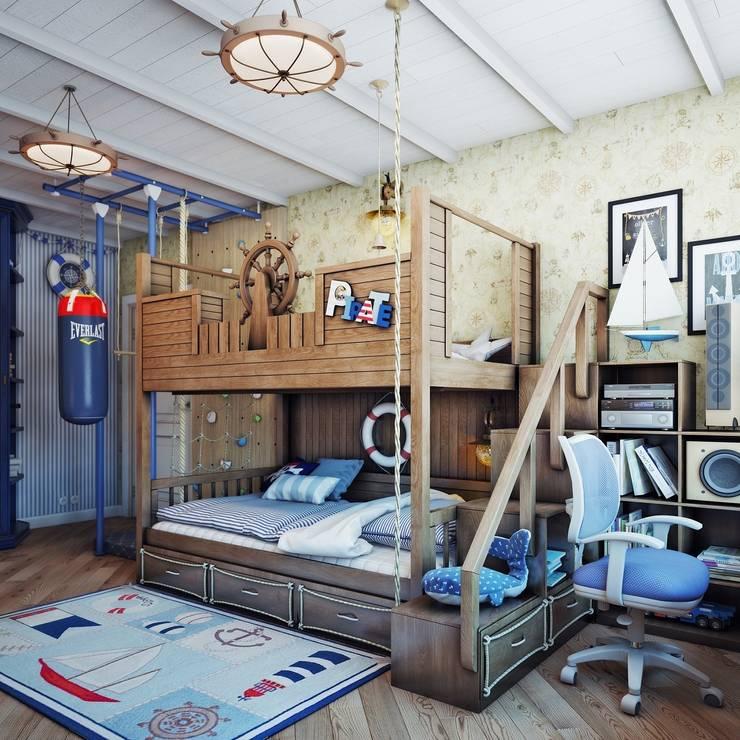 Детская в пиратском стиле: Детские комнаты в . Автор – Анна Теклюк